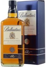Виски Ballantine's 12 YO, Баллантайнс 12 лет, в коробке 1л