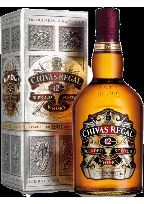 Виски Chivas Regal 12 YO Чивас Ригал 12 лет выдержки, в коробке 1л